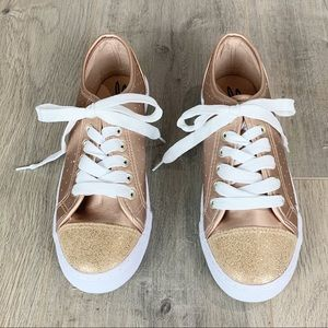 Lace-Up Sneakers by Seven7 in Gold